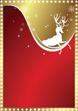 Christmas background with deer Stock Photo