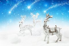 Christmas background with deer Royalty Free Stock Photos