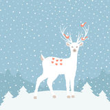 Christmas background with deer Royalty Free Stock Photography