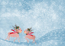 Christmas background with deer Royalty Free Stock Image