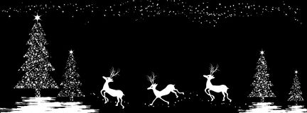 Christmas background with deers Stock Photos