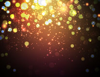 Christmas background with defocused lights Royalty Free Stock Photo