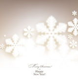Christmas background with defocused snowflakes. Stock Images