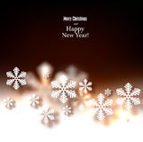 Christmas background with defocused snowflakes. Stock Image