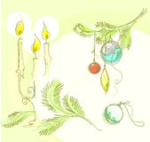 Christmas  background for design Royalty Free Stock Photos