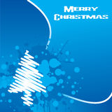 Christmas Background Design. Grungy Christmas Design With Blue Splatters vector illustration
