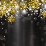 Christmas background design of bokeh light and snowflake Stock Photo