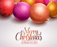 Christmas background design with colorful christmas balls Stock Image