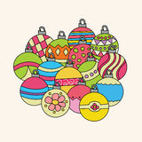 Christmas background design with decoration balls elements. Stock Photography