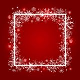 Christmas background design of snowflake with copy space. Vector illustration Stock Images