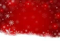 Christmas background design of snowflake with copy space. Vector illustration Stock Image