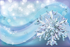 Christmas background with diamond snow Stock Image