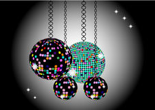 The Christmas background with disco balls Royalty Free Stock Photo