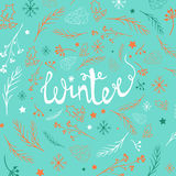 Christmas background with doodle icons. Royalty Free Stock Images