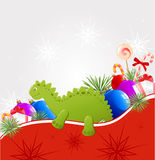 Christmas  background with dragon Royalty Free Stock Images
