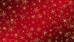 Christmas background. Dressed by gold snowflakes and glitter all elements almost sparkling royalty free illustration