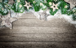 Christmas background in elegant natural style Stock Images