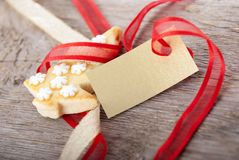 Christmas background with empty label Royalty Free Stock Photos