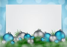 Christmas background with empty space for image and text vector Stock Photos
