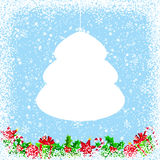 Christmas Background with Empty Speech Bubble Royalty Free Stock Images