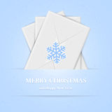 Christmas background with envelopes Stock Image