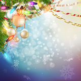 Christmas Background. EPS 10. Christmas Background. Holiday Abstract Glitter Defocused Background With Blinking Stars. Blurred Bokeh. EPS 10 vector file included Stock Photo