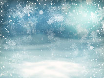 Christmas background. EPS 10. Christmas Lights on blue background. EPS 10 vector file included Stock Photo