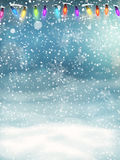 Christmas background. EPS 10. Christmas Lights on blue background. EPS 10 vector file included Stock Photography
