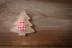 Christmas background with fabric christmas tree Royalty Free Stock Image