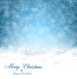 Christmas background with fallen snowflakes. Royalty Free Stock Photography