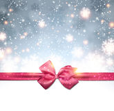 Christmas background with fallen snowflakes. Stock Photography