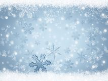 Christmas background with falling snowflakes Royalty Free Stock Photo