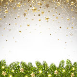 Christmas Background with Falling Stars Stock Photography