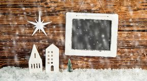 Christmas background with falling winter snow stock images