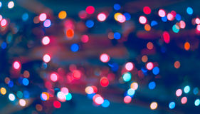 Christmas background. Festive abstract background with bokeh defocused lights and stars.  Stock Image