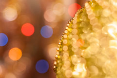 Christmas background. Festive abstract background with bokeh defocused lights and stars.  vector illustration
