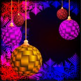 Christmas background. Festive balloons. Vector illustration Royalty Free Stock Photos