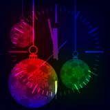 Christmas background. Festive balloons. Stock Images