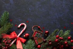 Christmas background festive decor. Christmas background with festive decor Royalty Free Stock Photo