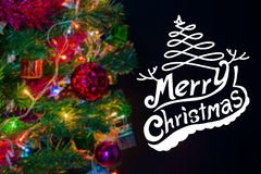 Christmas background with festive decoration and text Stock Photo