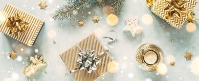 Christmas background with festive decoration royalty free stock image