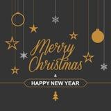 Christmas background for festive design. Vector illustration Stock Photos