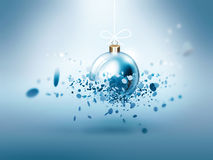 Christmas background. Festive Christmas background with glowing ball Stock Images