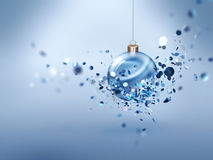 Christmas background. Festive Christmas background with glowing ball Stock Photos