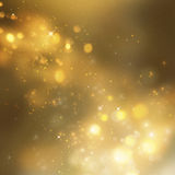 Christmas background. Festive xmas abstract background with bokeh defocused lights and stars Royalty Free Stock Images