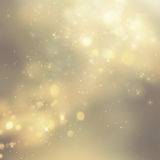 Christmas background. Festive xmas abstract background with bokeh defocused lights and stars Stock Images