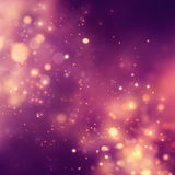 Christmas background. Festive xmas abstract background with bokeh defocused lights and stars Stock Photography