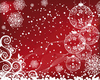 Christmas background with filigree balls Stock Image