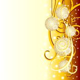 Christmas background with fir balls Royalty Free Stock Images