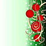 Christmas background with fir balls. Illustration Royalty Free Illustration
